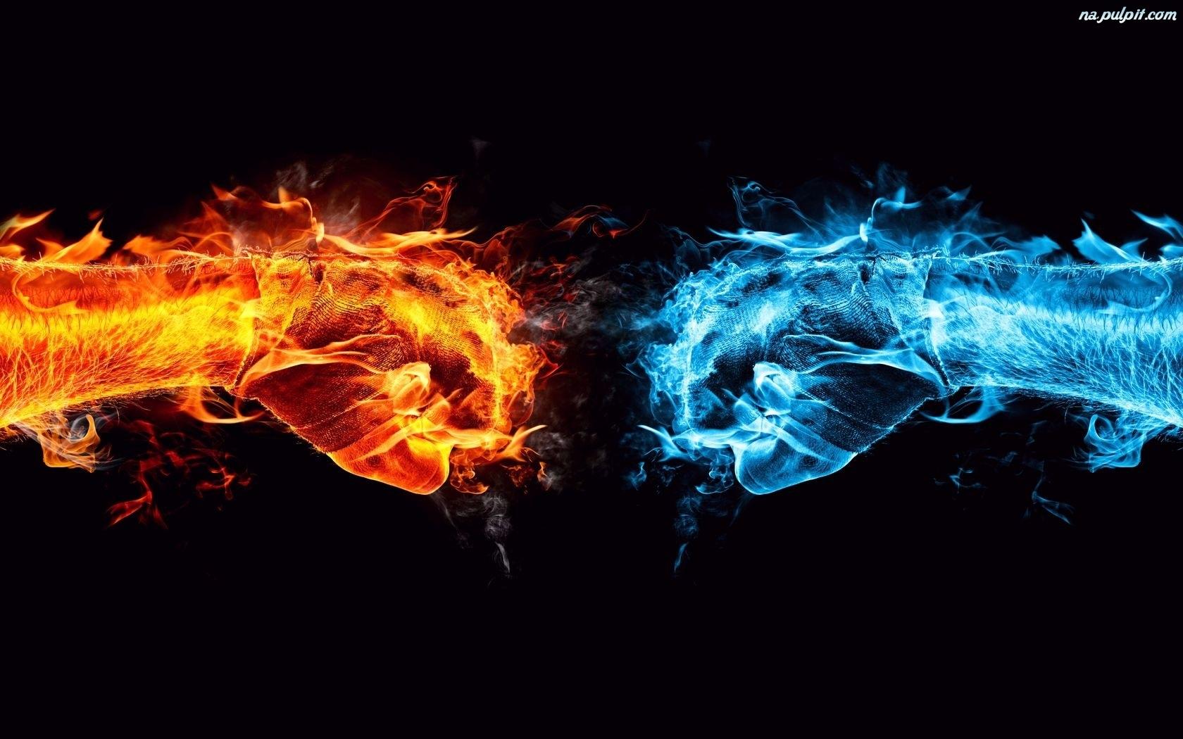 Woda, Pięści, Ogień